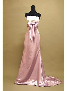 Lilac Column Empire Celebrity Gown with Train 3055