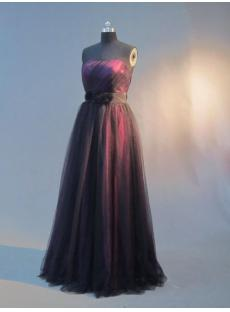 Long Black and Grap Vintage Pretty Prom Dress IMG_3310