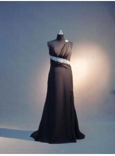 One Shoulder Black Formal Evening Gown IMG_3607