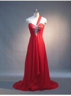 One Shoulder Chiffon Cheap Evening Dress IMG_3711