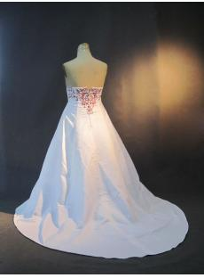 Plus Size Bridal Gown White and Red Embroidery IMG_3256