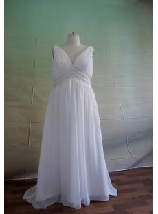 Plus Size V-neckline Maternity Wedding Dress 5049:1st-dress.com