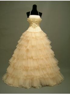 Pretty Champagne Cinderella Quinceanera Dresses DSCN2752