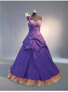 Purple 2011 One Shoulder pretty Quinceanera Dresses IMG_3698