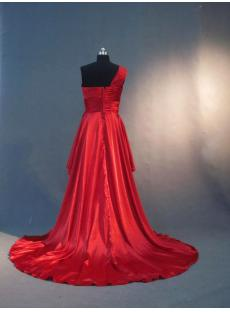 Red One Shoulder Plus Size Graduation Dress IMG_3115