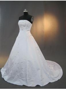 Satin Embroidery Modest Bridal Gown IMG_3254