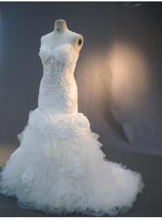 Sexy Illusion Mermaid Beach Wedding Dresses IMG_3003