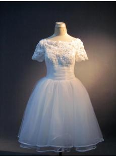 Short Wedding Dresses for the Beach with Short Sleeves IMG_3983
