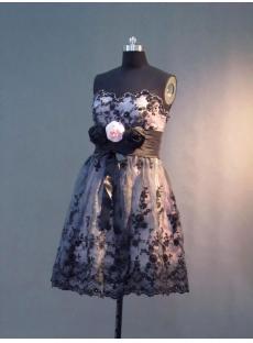 Strapless Short Black Homecoming Dress IMG_3241