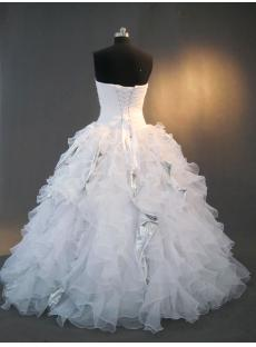 Strapless White Ruffle 15 Quinceanera Dresses IMG_3278