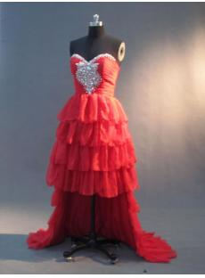 Sweetheart Red High-low Sweet 16 Dress IMG_2992