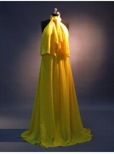 Uniques Halter Celebrity Dresses Yellow IMG_3430