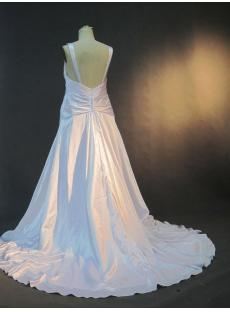 V-neckline Plus Size Beach Bridal Gown IMG_3112