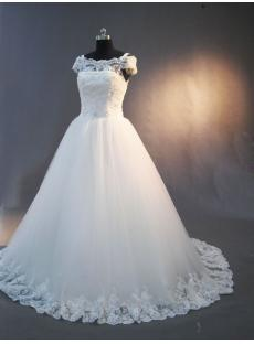 Vintage Lace off Shoulder Wedding Dress IMG_2998