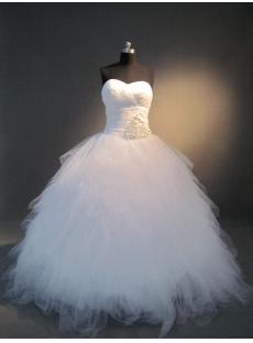 White Sweetheart Masquerade Ball Gown IMG_3801
