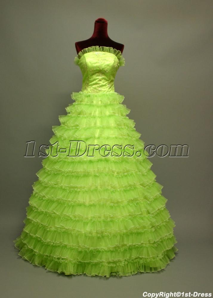 2011 Cute Puffy Green Quinceanera Dresses Img 6739 1st