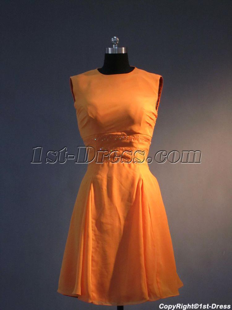 Burnt Orange Short Homecoming Dress IMG_3470:1st-dress.com