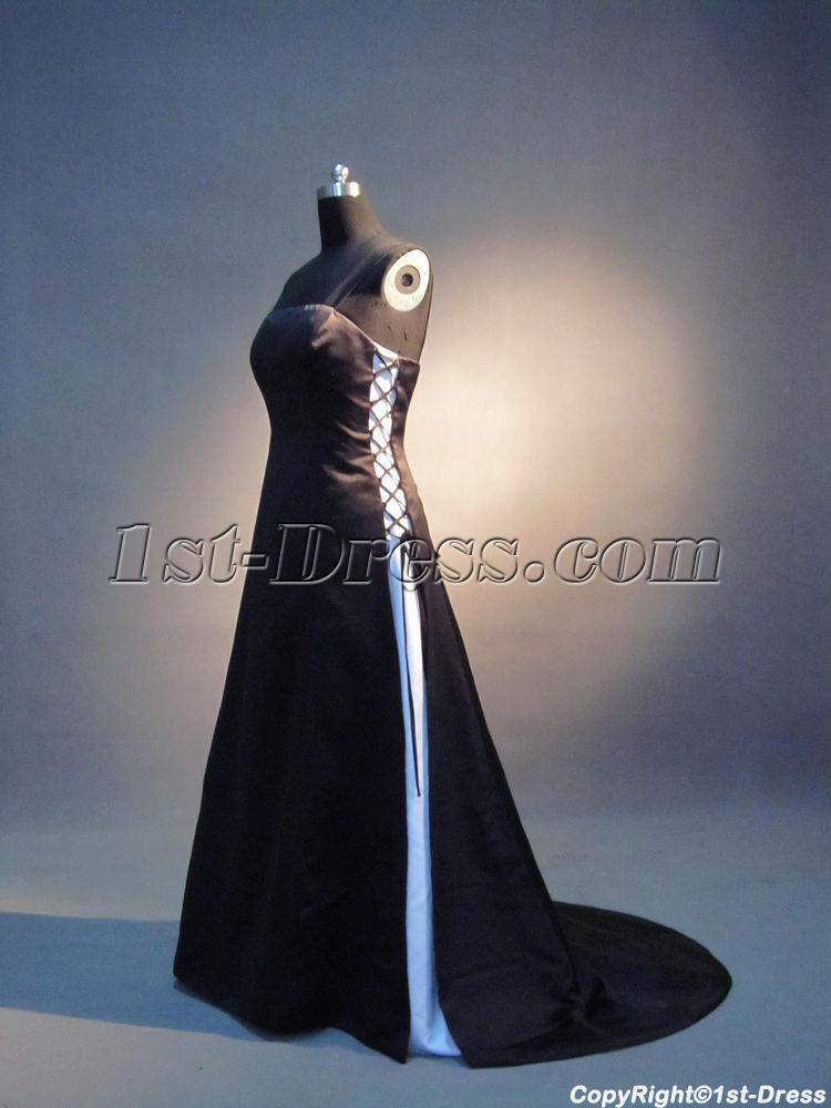 Black and White Bridesmaid Dresses Cheap
