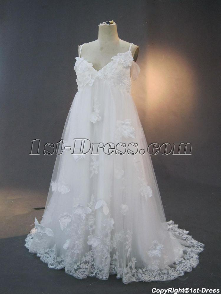 Exquisite off shoulder floral plus size maternity bridal for Plus size maternity wedding dresses