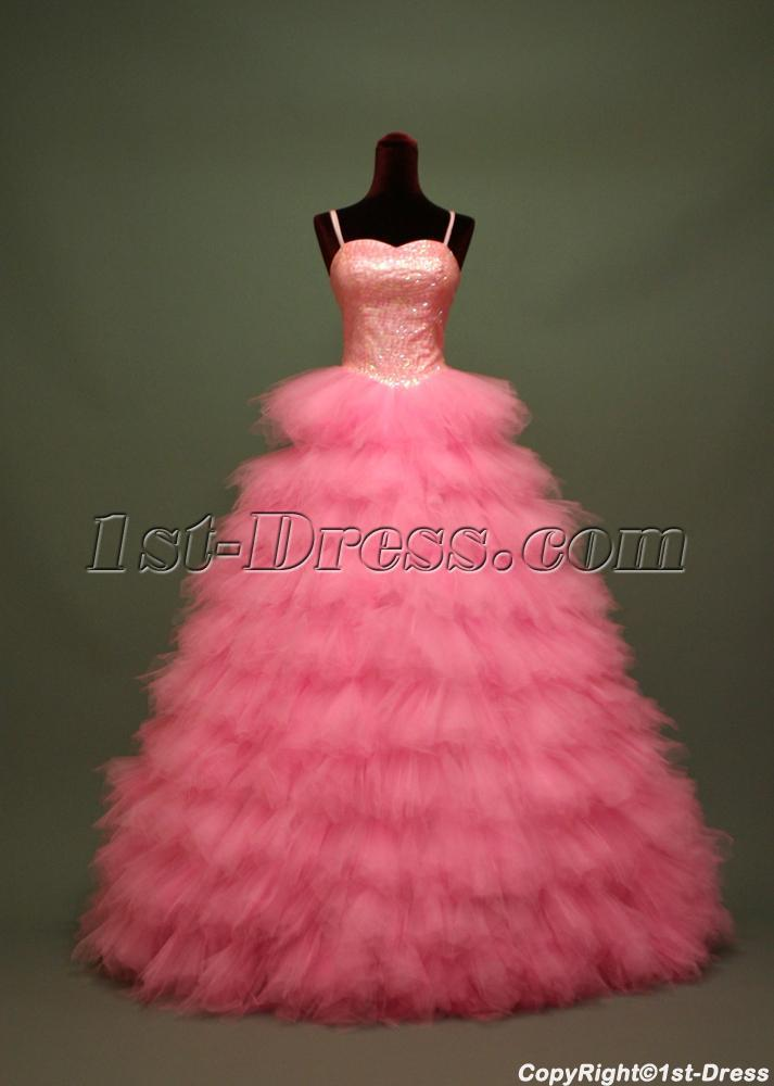 Fuchsia Quinceanera Dresses 2012 Hot Pink Puffy Beautif...