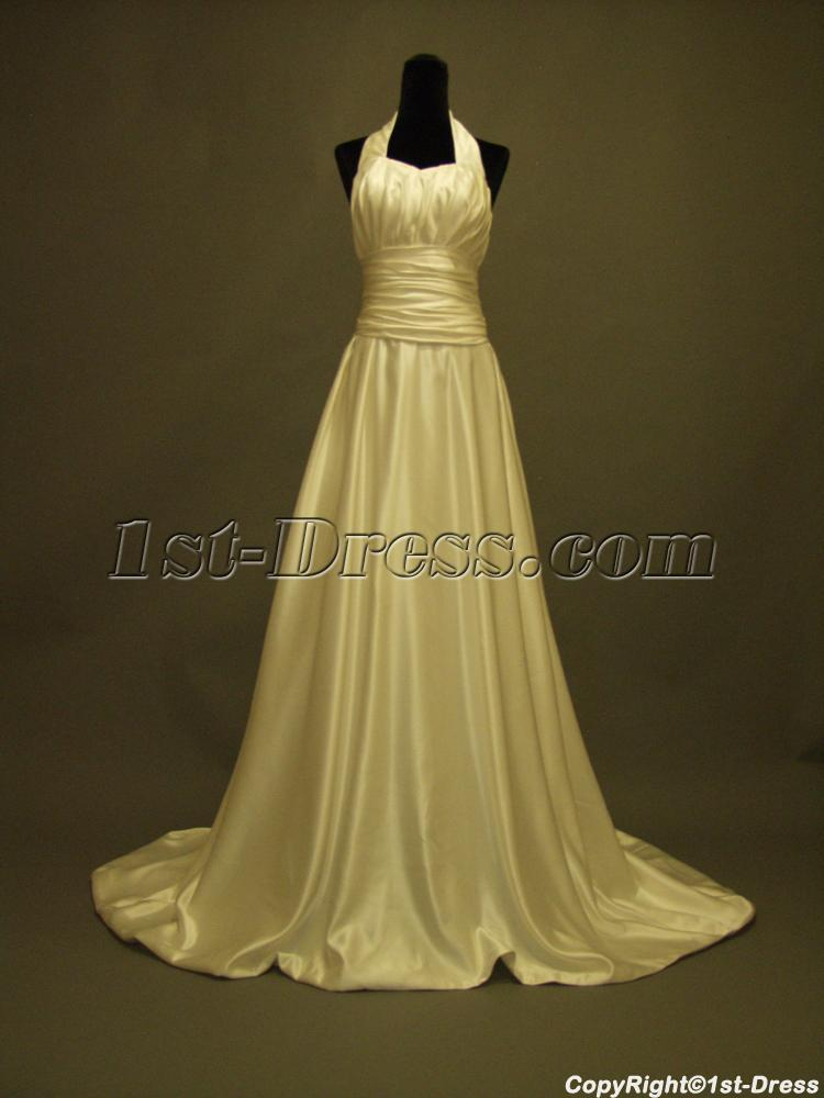 Low back halter floral casual wedding dress 231 1st for Casual flower girl dresses for beach wedding