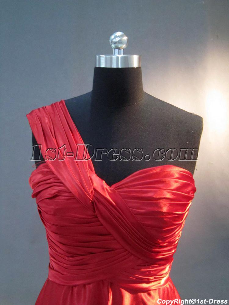 Red One Shoulder Plus Size Graduation Dress IMG_3115