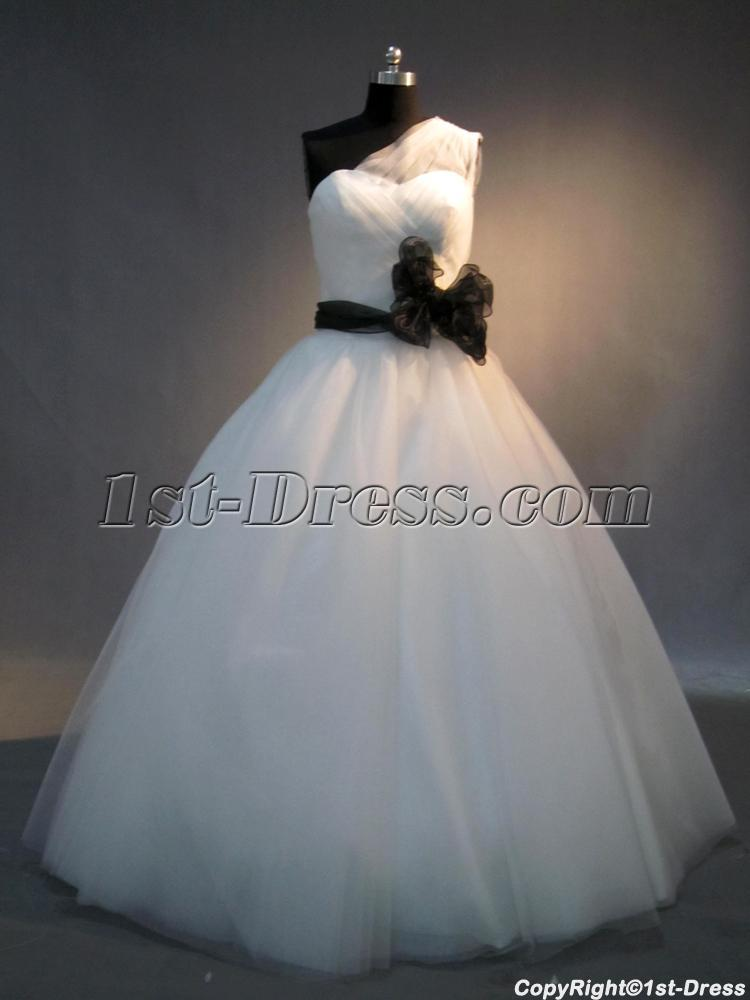 Romantic White And Black Cute Quinceanera Gown Img 4039