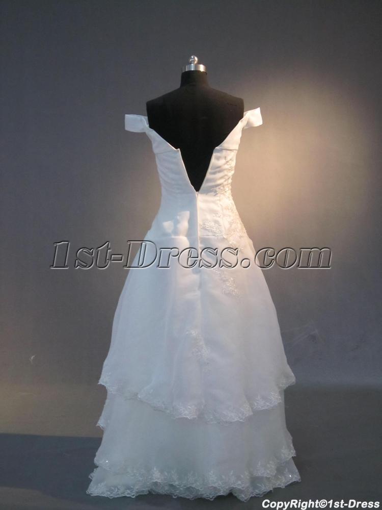Simple Vintage Off Shoulder Wedding Dresses Img 3944 1st Dress