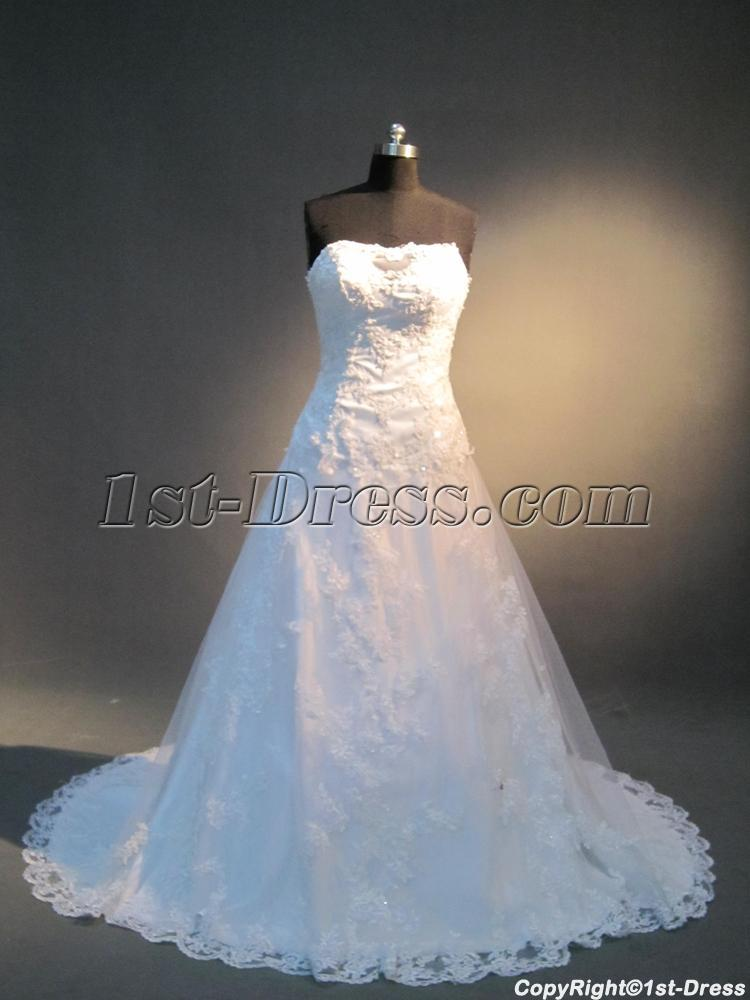 Strapless Lace Beautiful Couture Wedding Gowns Sale IMG_3937:1st ...