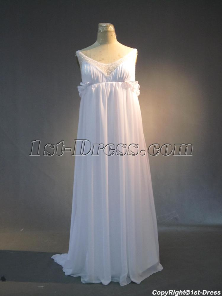 Summer Beach Maternity Wedding Gown Dress IMG 3966 1st
