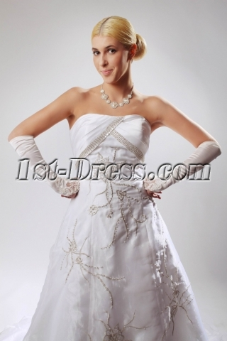 2012 Strapless Couture Bridal Gowns with Corset SOV110028