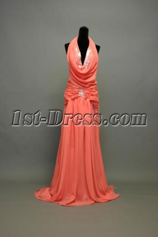 Backless Halter Sexy 2011 Prom Dress IMG_7423