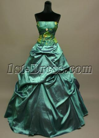 Best Teal Dama Dresses for Quinceanera IMG_6945