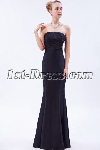 Black Trumpet Prom Dress with Bow IMG_9660