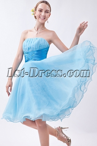 Blue Sweet 16 Dresses Cheap Short IMG_0952