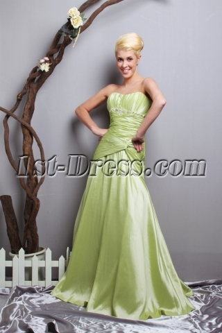 Bug Green 2013 Sheath Quince Dress with Sweetheart SOV113051