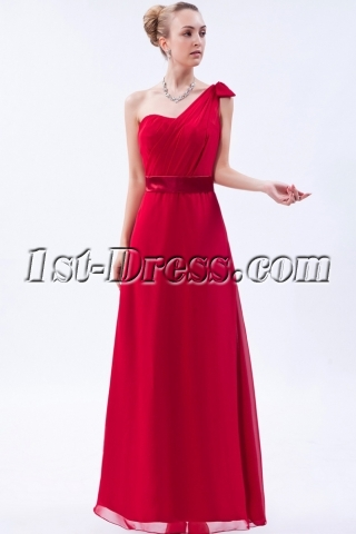 Burgundy One Shoulder Prom Dress Gentle 2013 img_9632