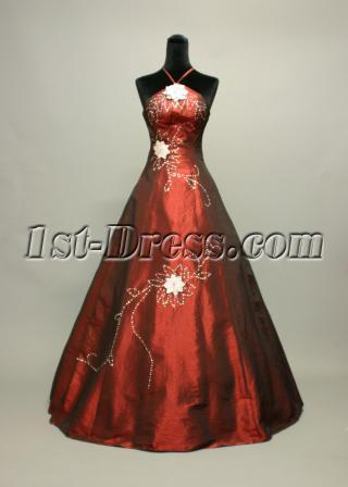 Burgundy Special Quinceanera Dresses 2012 img_7129