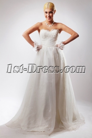 Cheap Sweetheart Elegant Ball Gown Wedding Dresses without Train SOV110035