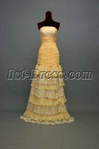 Chiffon Strapless Long Column Prom Dress 2011 img_7210