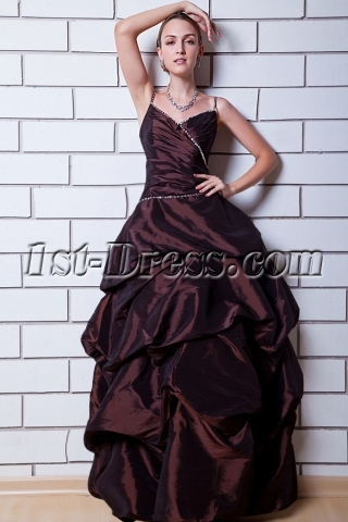 Chocolate Military Ball Gown Long IMG_0727