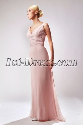 Coral Unique Plus Size Prom Dress with V-neckline SOV111003