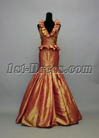 Dark Gold Unique Celebrity Dress IMG_7265