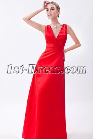 Deep V Classical Beach Bridesmaid Prom Dress IMG_1160
