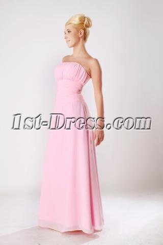 Elegant Chiffon Floor Length 2013 Prom Dress in Pink SOV112010