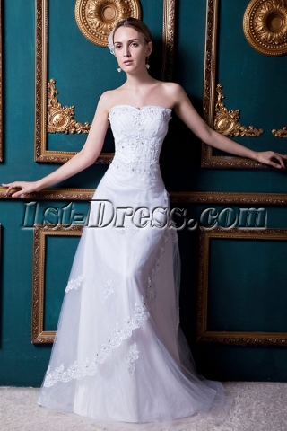Equisite Floor Length 2013 Wedding Dress with Corset Back IMG_1692