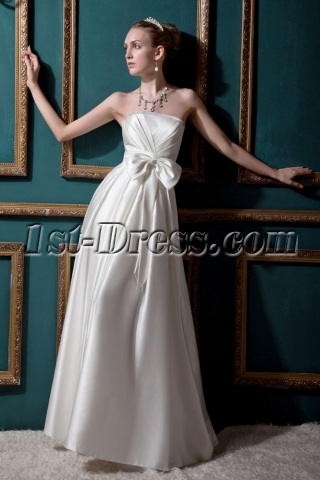 Floor Length Empire Affordable Wedding Dress IMG_0471