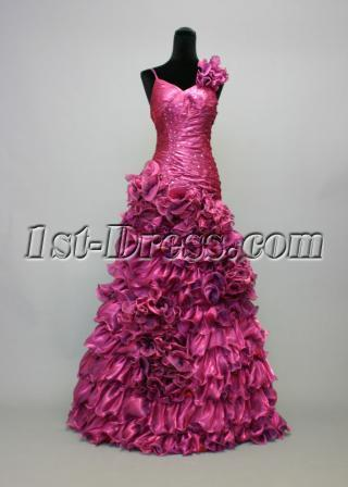 Floral Fuchsia Sweet Sixteen Party Dresses IMG_6995