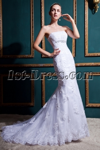 Gentle Mermaid Lace Wedding Dresses 2012 IMG_0397
