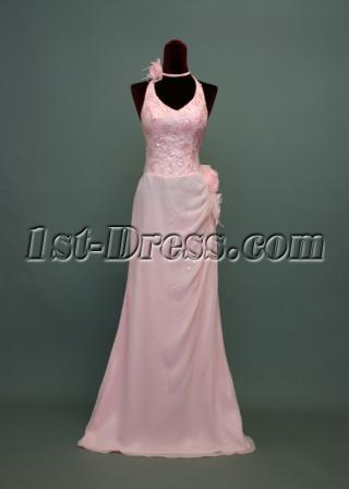 Glamorous Pink Pretty Prom Dress Open Back img_7315